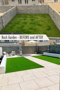 Before and After! We LOVE this transformation. This garden makeover used artificial grass and outdoor porcelain to create a stunning spacious area that can be used year round. Thank you to Megan for sharing her garden with us. Outdoor Tiles and Garden Tiles - Garden Patio and Paving Slabs Ireland. Huge Range of Outdoor Porcelain Tiles - Back garden patio ideas - We deliver nationwide in Ireland Garden Slabs, Garden Tiles, Patio Slabs, Patio Tiles, Garden Paving, Outdoor Tiles, Outdoor Decor, Outdoor Porcelain Tile, Porcelain Tiles
