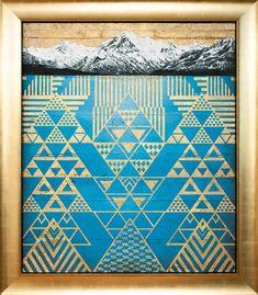 Krishna Aoraki Mt Cook painting with gold tukutuku by Sofia Minson Artwork Prints, Fine Art Prints, Maori Patterns, Maori Art, Thai Tattoo, Maori Tattoos, Tribal Tattoos, Maori Designs, Tattoo Designs