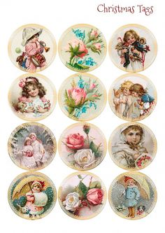 Vintage Labels Wings of Whimsy: Vintage Christmas Children Tags Decoupage Vintage, Decoupage Paper, Vintage Paper, Vintage Tags, Vintage Labels, Vintage Ephemera, Vintage Prints, Printable Vintage, Printable Tags
