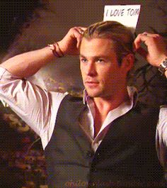 Just look at the signs! | Chris Hemsworth And Tom Hiddleston Have The Hottest Bromance To Ever Exist