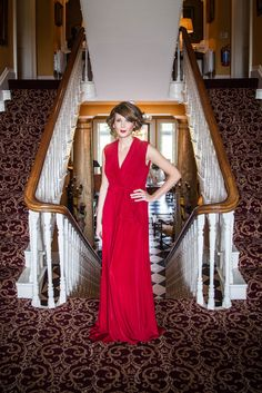 Red Silk Jersey evening gown Red Silk, Evening Gowns, Wrap Dress, How To Wear, Collection, Dresses, Design, Fashion, Evening Dresses