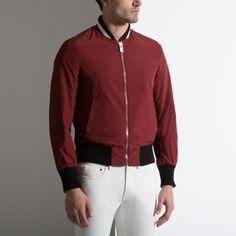 Nylon Varsity Jacket - RED DARK POLYAMIDE Jackets
