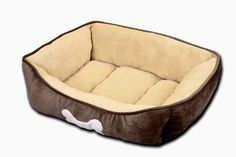 HappyCare Textiles HCT REC002 Rectangle Classic Solid Dog and Pet Bed Large Chocolate >>> Be sure to check out this awesome product.