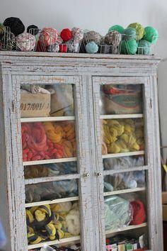 Yarn Storage Dreams | Chalk paint, Yarns and Storage