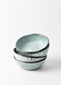 Trouva:  Set of Two Rustic Speckled Bowls