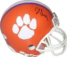 CJ Spiller Signed Tigers Mini Helmet with COA by Autograph-Sports | #SportsMemorabilia #CJSpiller #ClemsonTigers