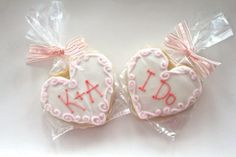 Personalized Wedding Heart Decorated Cookie by FlavorPursuit, $29.50