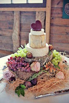 wedding cheese wheel cake 26