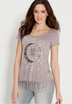 burnout tee with sun and moon graphic (original price, $29) available at #Maurices