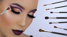 Discover these makeup tools products ad# 7769 Best Brushes, Best Makeup Brushes, How To Clean Makeup Brushes, Makeup Tools, Makeup Products, Beauty Products, Mac Eyeshadow, Eyeshadow Brushes, Makeup Brush Hacks