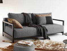Hochmoderne Schlafcouch im trendigen industrial style! | Betten.de #couch #industrial #style #schlafcouch http://www.betten.de/schlafsofa-webstoff-grau-rueckenkissen-butland.html
