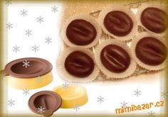 Kávová zrna v čokoládě s náplní