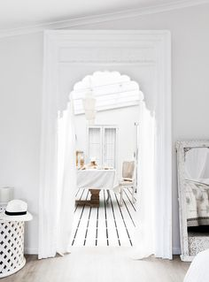 A lifestyle store selling white Indian furniture, homewares, block printed textiles, lace kaftans and jewellery with coastal, tropical and boho luxe style. Indian Furniture, Vintage Furniture, Interior Stylist, Interior Design, Indian Doors, Boho Room, Internal Doors, Beautiful Homes, Arches
