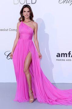 Alessandra Ambrosio in Tommy Hilfiger at the 2018 Cannes amfAR Gala