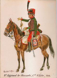 Elite company,  8th Hussars, 1812