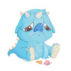 sad little monster