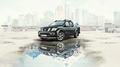 Nissan Navara - Automotive CGI print image for Nissan Navara, combining CGI and photography for a seamless completely photorealistic result of the car. Agency TBWA provided us with the photography of the car which had been shot in a studio, to incorporate it into a fantasy environment.