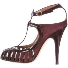 Giuseppe Zanotti Patent Leather Cage Sandals ($125) ❤ liked on Polyvore featuring shoes, sandals, burgundy, caged sandals, giuseppe zanotti, patent sandals, patent shoes and caged shoes