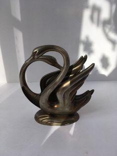 Vintage Silver Plated swan napkin holder Silver Candle Holders, Vintage Decor, Vintage Silver, Swan, Silver Plate, Napkins, Plating, Candles, Etsy