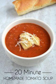 Quick & Easy Homemade Tomato Soup Recipe