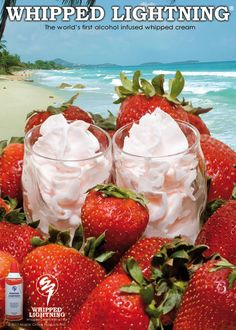 Strawberries & Cream - Make your strawberries even sweeter with some Strawberry Colada Whipahol