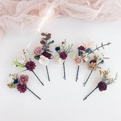 Excited to share this item from my shop: Fall Bobby pins, Maroon flower bobby pins, Burgundy Set of Fall burgundy flower headpiece, Winter deep red hair pins, Fall wedding weddinghairflowers Wedding Hair Clips, Wedding Hair Flowers, Wedding Hair Pieces, Flowers In Hair, Flower Hair Pieces, Wedding Pins, Flower Clips For Hair, Bridesmaid Hair With Flowers, Flower Headpiece Wedding