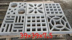 online igarape mg Decorative Concrete Blocks, Concrete Block Walls, Concrete Retaining Walls, Brick Design, Facade Design, Breeze Block Wall, 2bhk House Plan, Modern Fence Design, Brick Laying