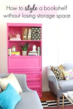 How to Style a Bookshelf without losing storage space