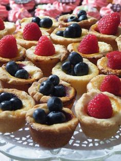 Mini Lemon Berry Tarts,  I actually made these but used pre-made shells, so good! I baked them for most of the time and then stuffed frozen berries inside and cooked for about 10mins longer :)