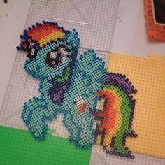 MLP Rainbow Dash perler beads by nicknitro81