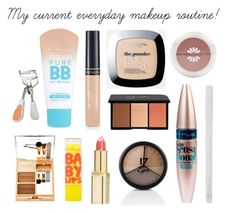 """""""My Everyday Makeup Routine! (Drugstore)"""" by sophiesayshi ❤ liked on Polyvore featuring beauty, Revlon, L'Oréal Paris, Rimmel, Maybelline and Sally Hansen"""