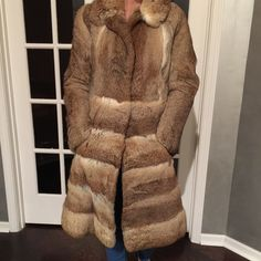 Genuine 100% Rabbit Fur Coat Genuine 100% Rabbit Fur Coat. Used but good condition, Size small Jackets & Coats