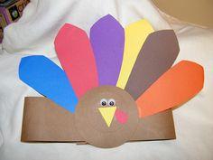 Turkey Crafts for Kids Thanksgiving Art, Thanksgiving Preschool, Thanksgiving Crafts For Kids, Thanksgiving Traditions, Christmas Crafts, Headband Crafts, Hat Crafts, Preschool Arts And Crafts, Preschool Ideas