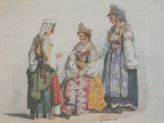 Arbëreshë-Albanian women in traditional clothes