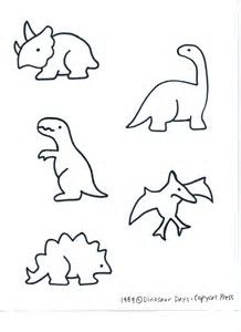 Image result for Dinosaur Cut Out Template
