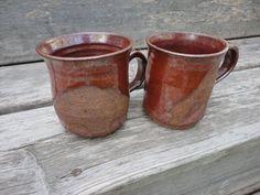 Pottery   Mug  in Tomato red on death by NancyBloklandPottery, $38.00
