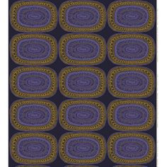 Marimekko Noitarumpu Blue/Gold Fabric Repeat $48.40