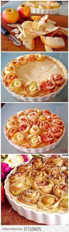 Szarlotka z rozami Skladniki na ciasto: 2 szklanki mak… na Stylowi.pl