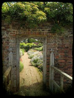 English walled garden..