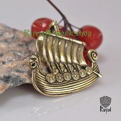 Drakkar Pendant Viking Ship Pendant Viking Necklace viking