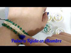 Hermosa Pulsera Tejida en Alambre - YouTube