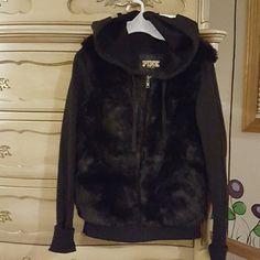 Victoria's Secret Black Fur Jacket Worn once. Victoria's Secret Jackets & Coats