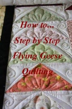 Very clear instructions.  Sew-n-Sew Quilting: Flying Geese Tutorial