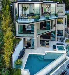 This astounding mansion with three floors, a swimming pool and breathtaking views over the City of Angels costs £2.9m and has just been bought by a video gamer who plays Minecraft for a living