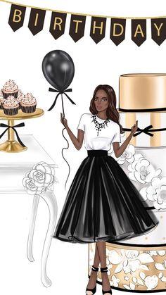 Happy Birthday Black, Happy Birthday Woman, Happy Birthday Wishes Images, Birthday Wishes For Daughter, Happy Birthday Celebration, Happy Birthday Greetings, Girl Birthday, Birthday Board, Happy Birthday African American