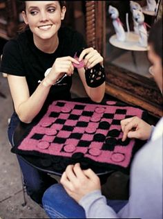 Awesome! Ravelry: Felted Checkers Set pattern by Lion Brand Yarn