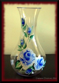"""Plastic 48 oz Vase or Wine decanter, 9.5"""" tall painted in enamel paint for durability! - $35 plus shipping - mail@choicez.biz for more information"""