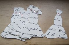 french script wedding gown tags