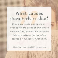 Brown spots, age spots or liver spots, however you call them, they're caused by sunlight and pollution... are you protected? Want to know how to treat and resolve your brown spots? Click above to learn all.