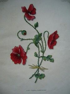 Red Poppy embroidery